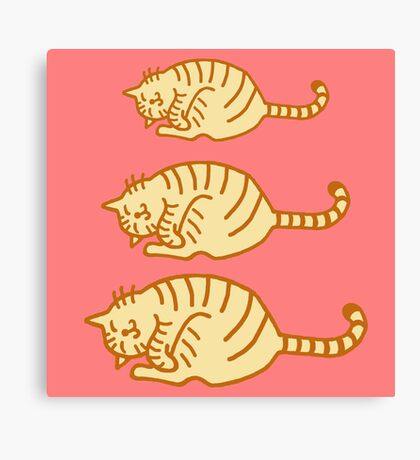 Tiger cat family v2 Canvas Print