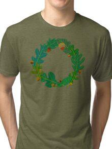Oak Leaves and Acorns Tri-blend T-Shirt