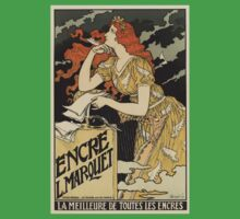 Nouveau Art by Eugene Grasset Kids Tee