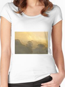 Misty Autumn Morning Women's Fitted Scoop T-Shirt
