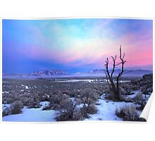 Nevada Winter Pre Sunrise  Poster