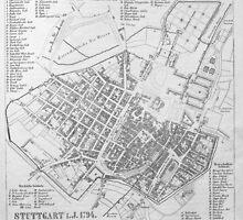 Vintage Map of Stuttgart Germany (1794) by BravuraMedia