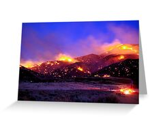 Palomino Valley Wild Fire (The Ironwood Fire) Greeting Card