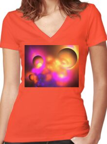 Moons of Altair Women's Fitted V-Neck T-Shirt