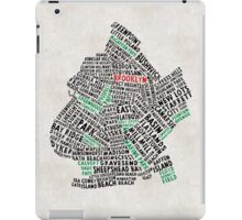 Brooklyn New York Typography Map iPad Case/Skin