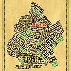 Brooklyn New York Typography Map by icoNYC