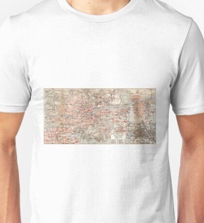 Vintage Map of Stuttgart Germany (1909) Unisex T-Shirt