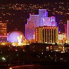 Sunday Night Downtown Reno by SB  Sullivan