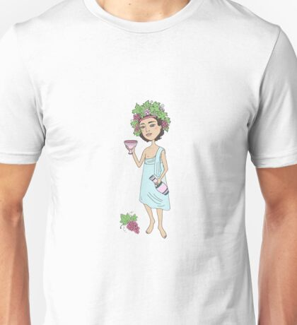 God of wine Bacchus with a glass of wine in hand Unisex T-Shirt
