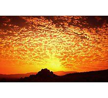Northern Nevada Sunrise Photographic Print