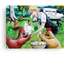 Long Live The Chickens Canvas Print