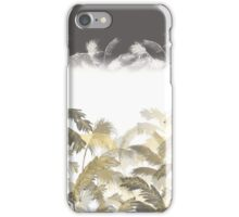 Grey and yellow palms iPhone Case/Skin