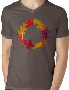 Autumn Oak Leaves and Acorns Mens V-Neck T-Shirt