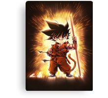 Kid Goku Epic Canvas Print