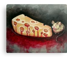The Reward is Cheese Canvas Print