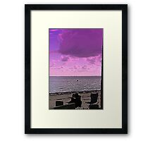 white tropical beach Framed Print