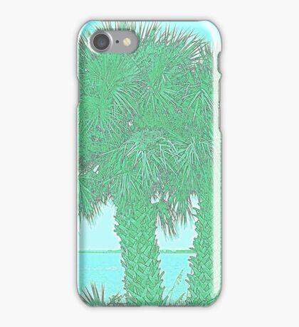 white tropical beach iPhone Case/Skin