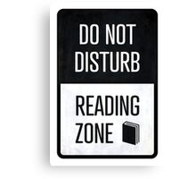 Do not disturb, Reading zone - book lover christmas gift Canvas Print