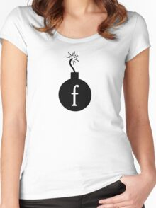 Drop the F Bomb Women's Fitted Scoop T-Shirt