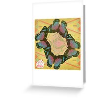 flying flowers Greeting Card