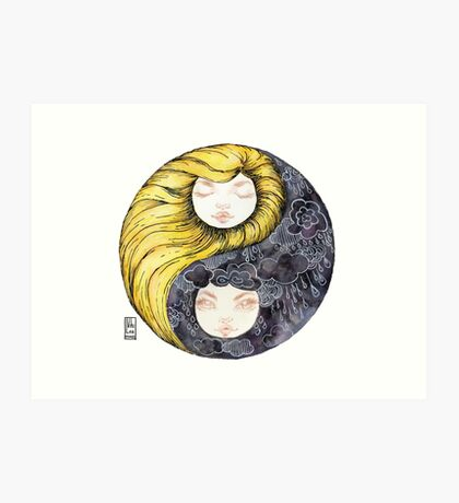 Yin Yang Daughters Sun/Rain Art Print