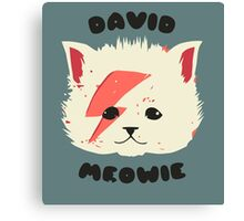 David Meowie Canvas Print