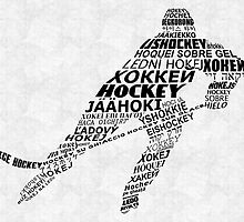 Hockey Languages Typography by icoNYC