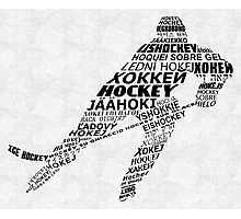 Hockey Languages Typography Photographic Print