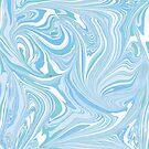 Light Blue & White Marble Swirls by artonwear