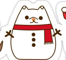 Cute Christmas Pupsheens Sticker