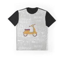 Cute illustration of a vespa scooter Graphic T-Shirt