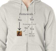 Counter Strike beats homework! Zipped Hoodie