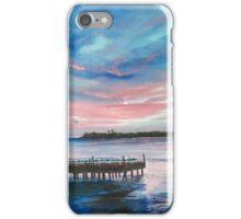 Sunset At Sunset Pier Tiki Bar iPhone Case/Skin