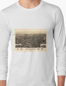 Vintage Pictorial Map of Tallahassee FL (1885) Long Sleeve T-Shirt