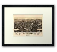 Vintage Pictorial Map of Tallahassee FL (1885) Framed Print