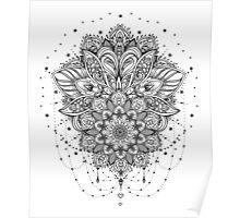 Ornate Lotus Flower Poster