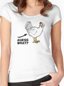 Guess What Chicken Butt Women's Fitted Scoop T-Shirt
