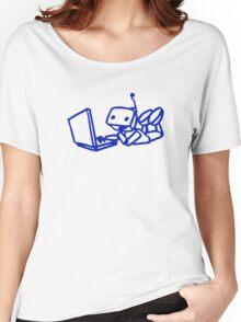 Robot using laptop Women's Relaxed Fit T-Shirt