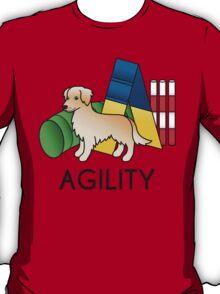 Golden Retriever Agility Cartoon Dog T-Shirt
