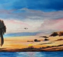 Sunset On The Island Of Siesta Key Sticker