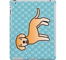 Yellow Labrador Retriever Cartoon Dog iPad Case/Skin