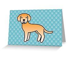 Yellow Labrador Retriever Cartoon Dog Greeting Card