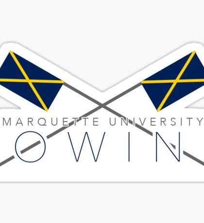 Marquette University Rowing Sticker