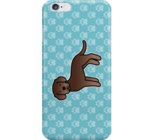 Chocolate Labrador Retriever Cartoon Dog iPhone Case/Skin