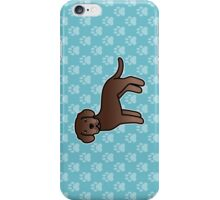Chocolate Labrador Retriever Cartoon Dog iPhone Case/Skin