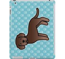 Chocolate Labrador Retriever Cartoon Dog iPad Case/Skin