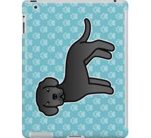 Black Labrador Retriever Cartoon Dog iPad Case/Skin