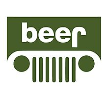 Drink beer in a truck or jeep. Photographic Print