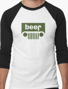 Drink beer in a truck or jeep. Men's Baseball ¾ T-Shirt