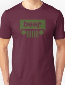 Drink beer in a truck or jeep. Unisex T-Shirt